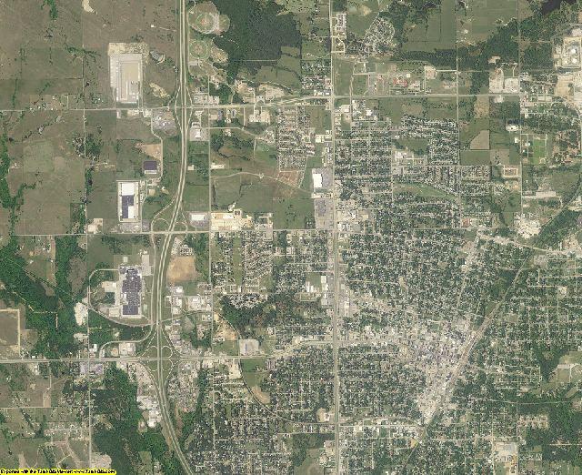 Carter County, Oklahoma aerial photography