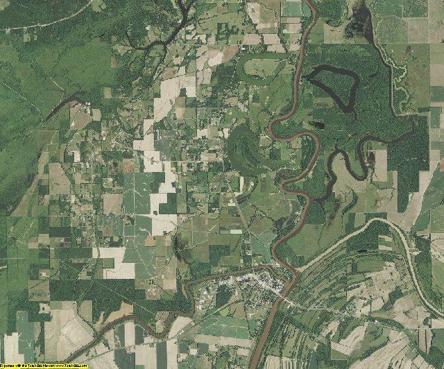 Catahoula County, Louisiana aerial photography