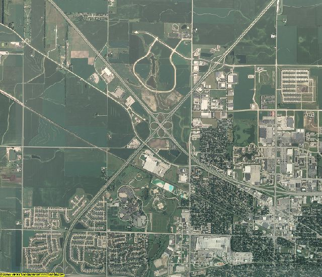 Champaign County, Illinois aerial photography