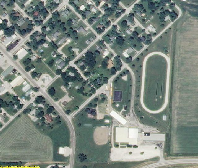 Chariton County, MO aerial photography detail