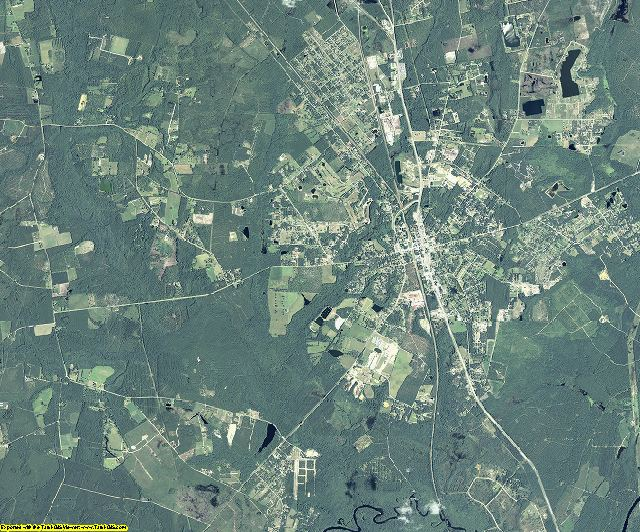 Charlton County, Georgia aerial photography