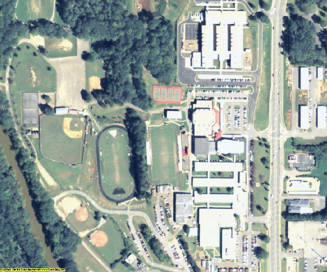 Cherokee County, GA aerial photography detail