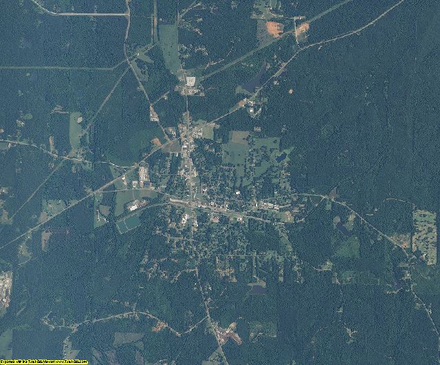 Choctaw County, Mississippi aerial photography