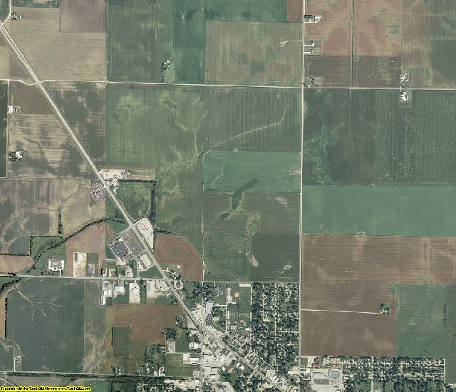 Christian County, Illinois aerial photography