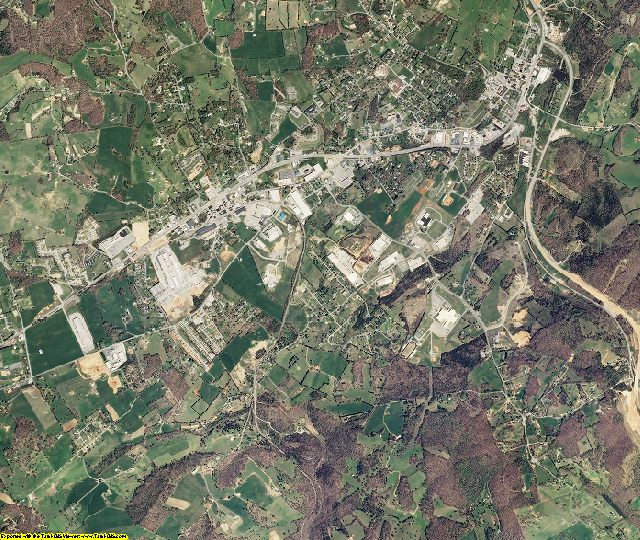 Claiborne County, Tennessee aerial photography