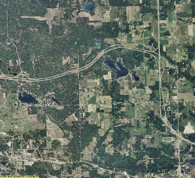 Clare County, Michigan aerial photography