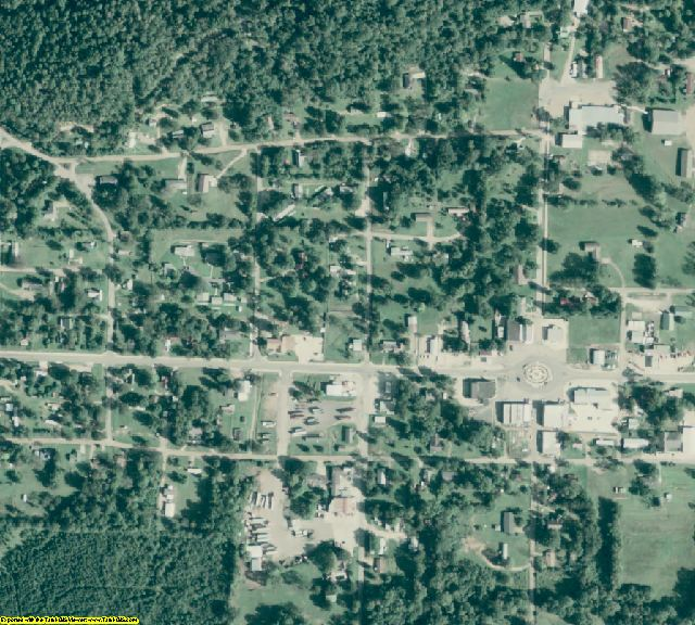 Clark County, AR aerial photography detail