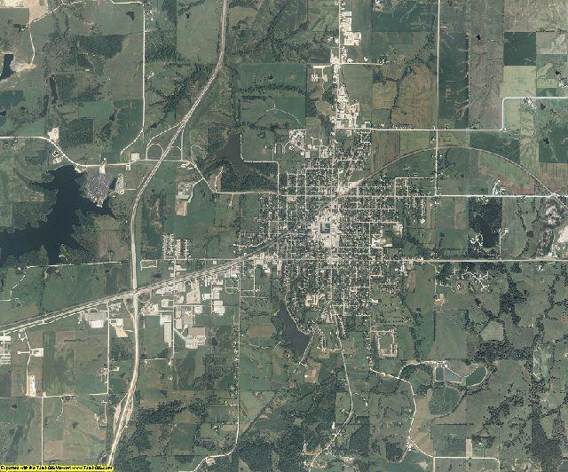 Clarke County, Iowa aerial photography