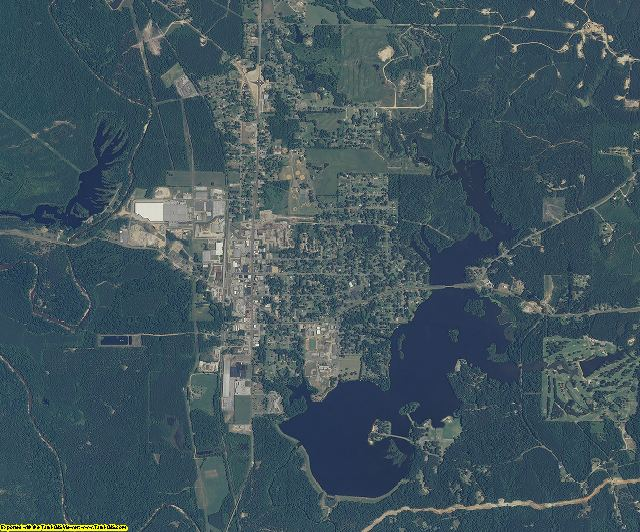 Clarke County, Mississippi aerial photography