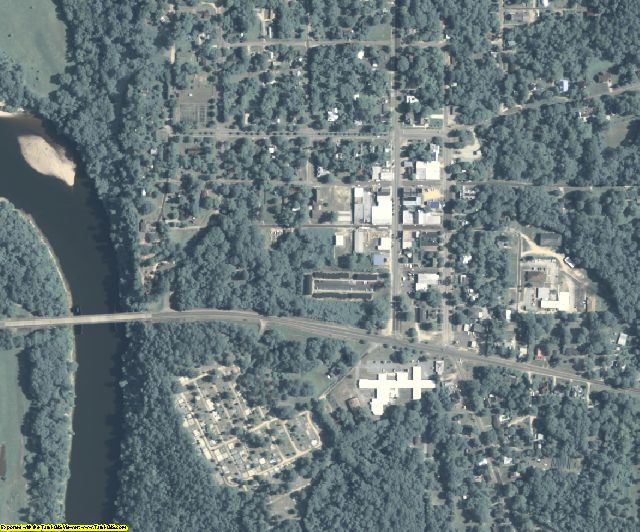 Clay County, GA aerial photography detail