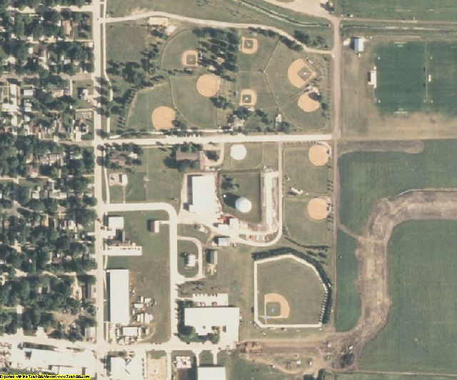 Clay County, IA aerial photography detail