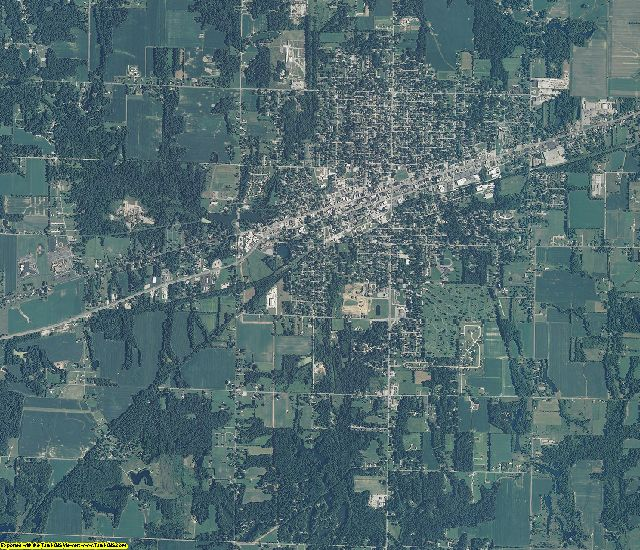 Clay County, Indiana aerial photography