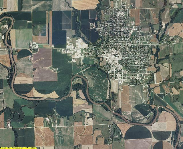 Clay County, Kansas aerial photography