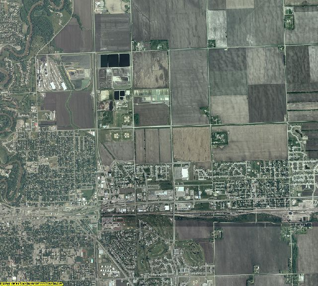 Clay County, Minnesota aerial photography