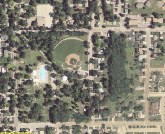 Clay County, SD aerial photography detail