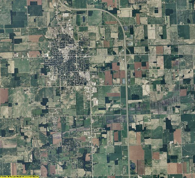 Clinton County, Michigan aerial photography