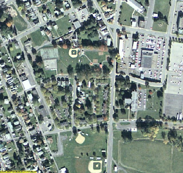 Clinton County, PA aerial photography detail
