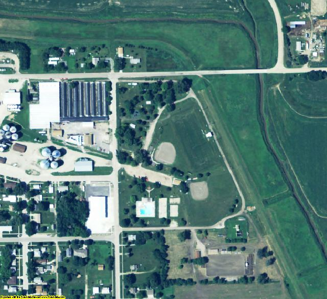Colfax County, NE aerial photography detail