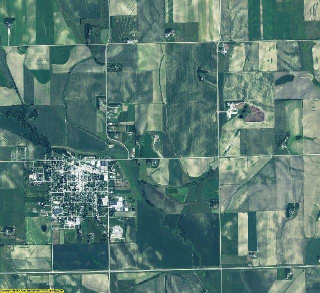 Colfax County, Nebraska aerial photography