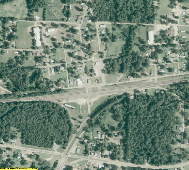 Columbia County, AR aerial photography detail