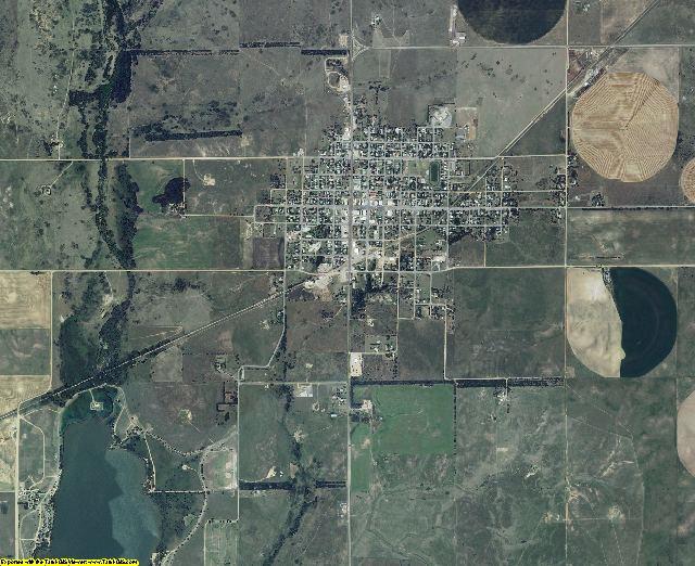 Comanche County, Kansas aerial photography