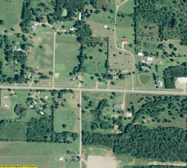 Conway County, AR aerial photography detail
