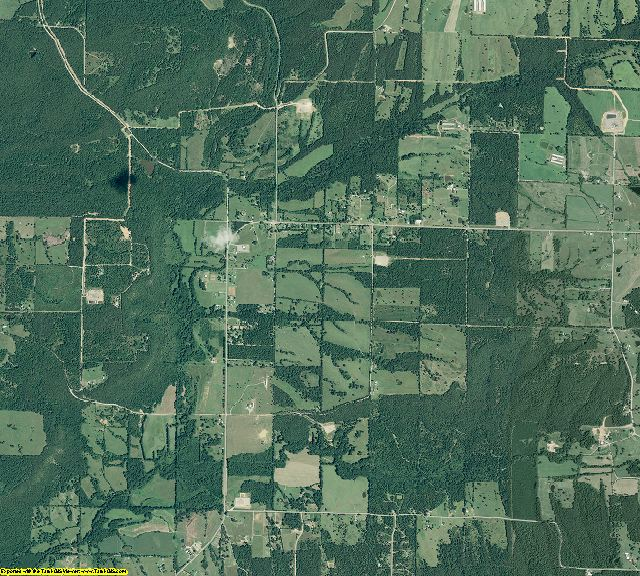 Conway County, Arkansas aerial photography