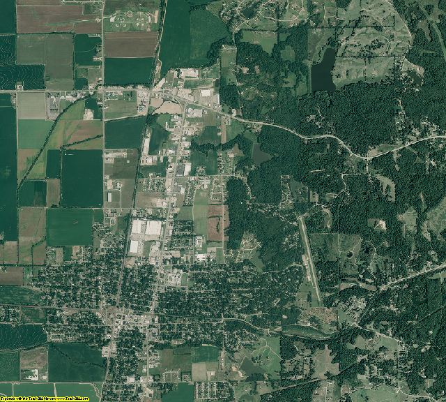 Cross County, Arkansas aerial photography