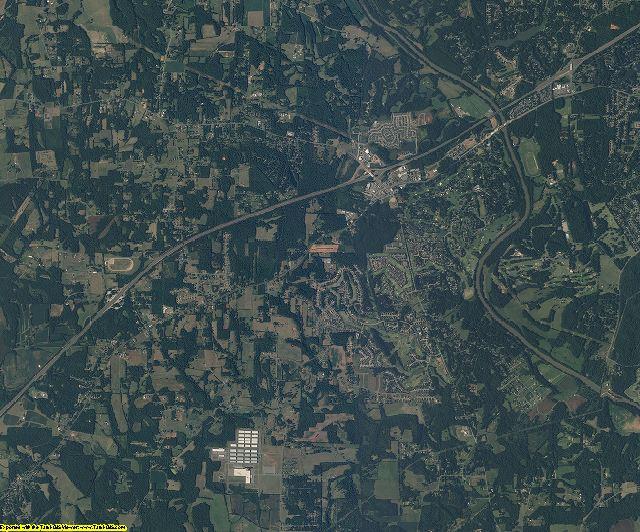 Davie County, North Carolina aerial photography