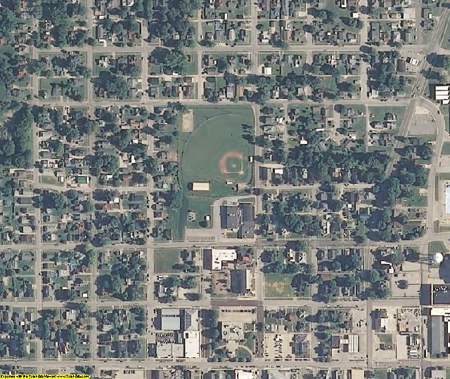 Daviess County, IN aerial photography detail