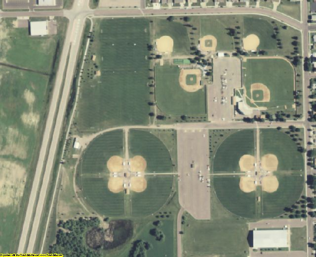 Davison County, SD aerial photography detail