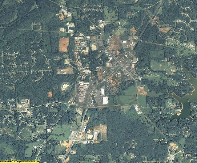 Dawson County, Georgia aerial photography