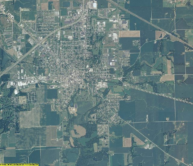Decatur County, Indiana aerial photography