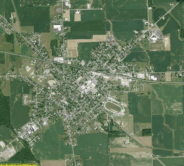 Defiance County, Ohio aerial photography