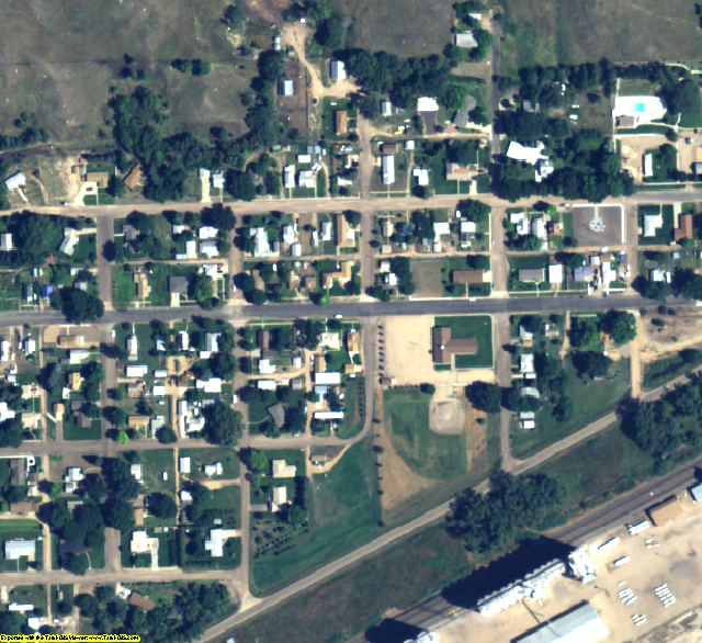 Deuel County, NE aerial photography detail