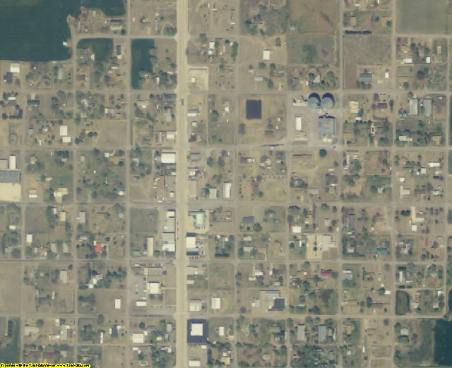 Dewey County, OK aerial photography detail