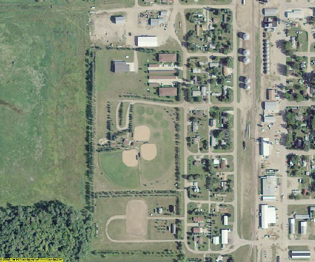 Dickey County, ND aerial photography detail