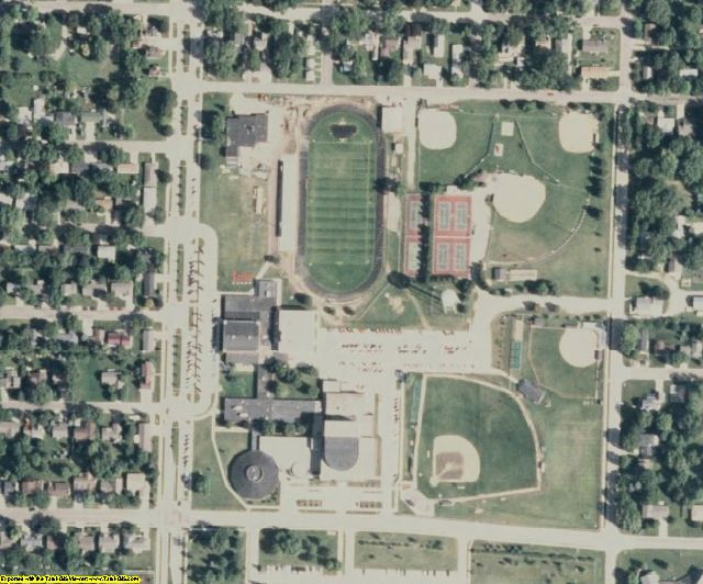 Dickinson County, IA aerial photography detail