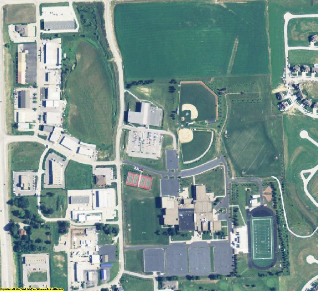 Douglas County, NE aerial photography detail