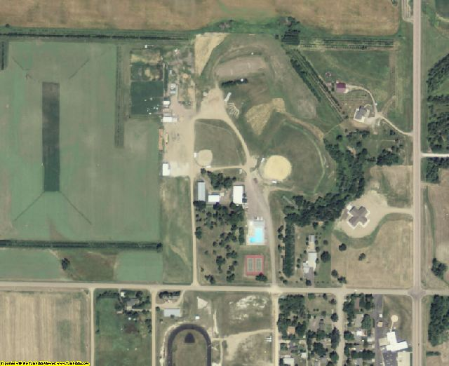 Douglas County, SD aerial photography detail
