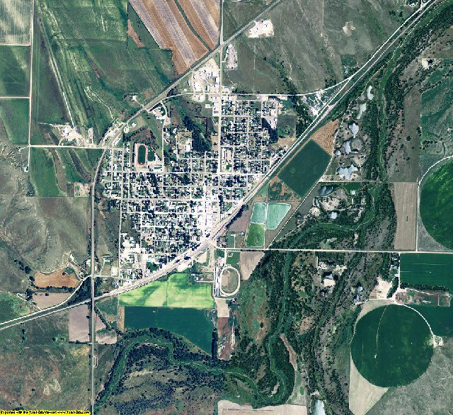 Dundy County, Nebraska aerial photography