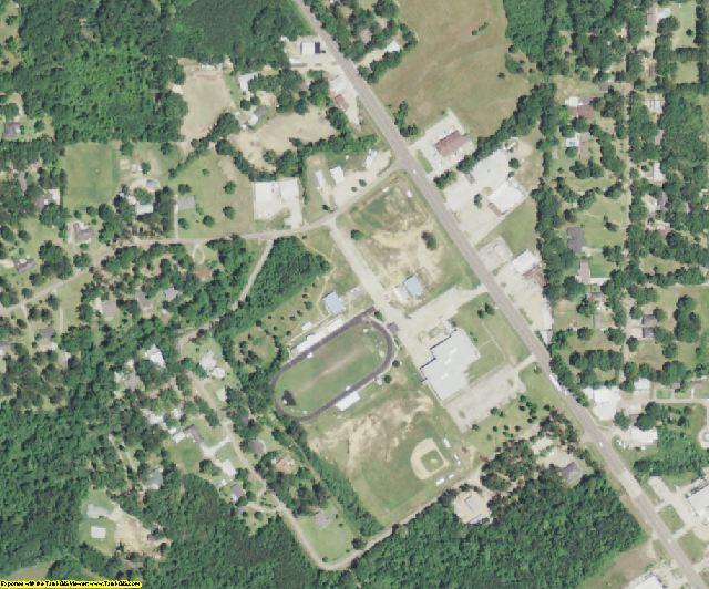 East Feliciana County, LA aerial photography detail