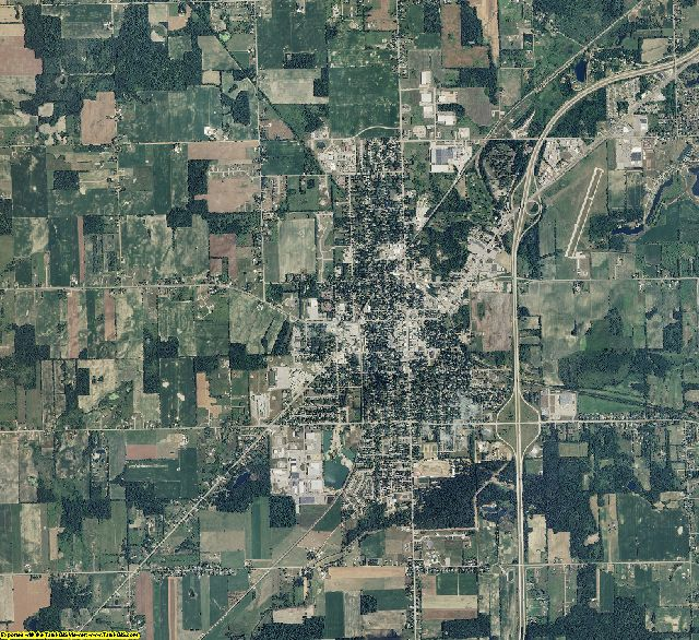 Eaton County, Michigan aerial photography