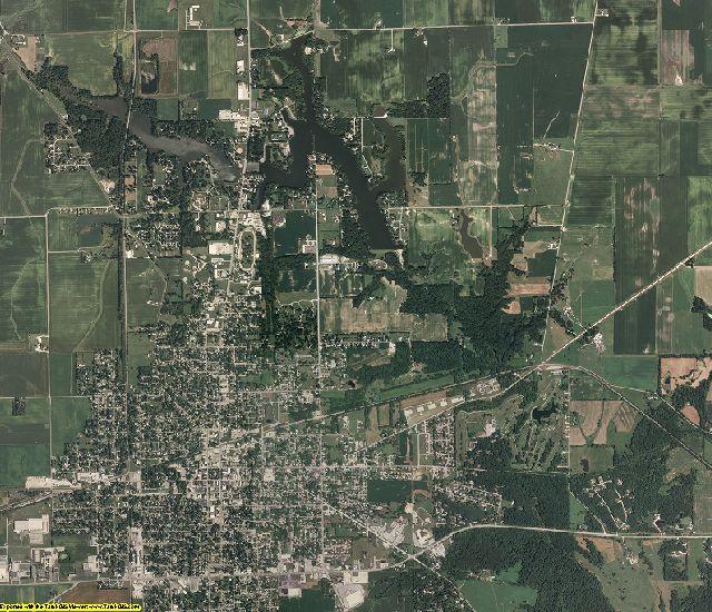 Edgar County, Illinois aerial photography