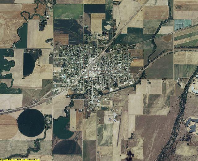 Edwards County, Kansas aerial photography