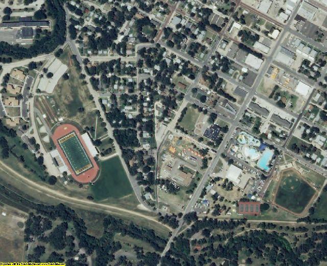 Ellis County, KS aerial photography detail