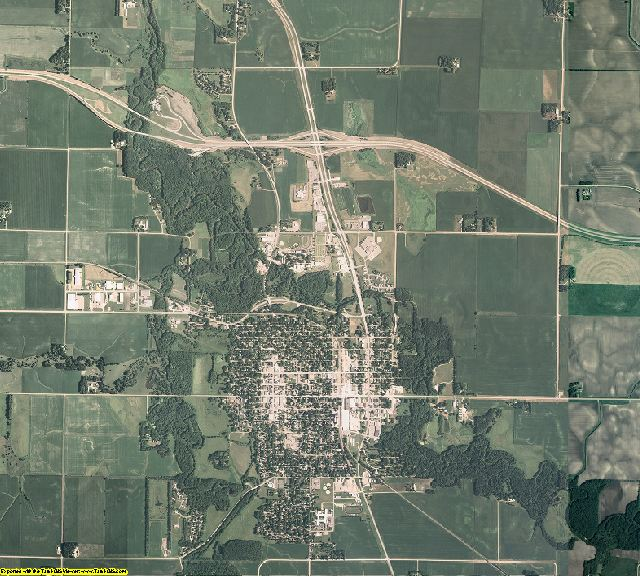 Faribault County, Minnesota aerial photography