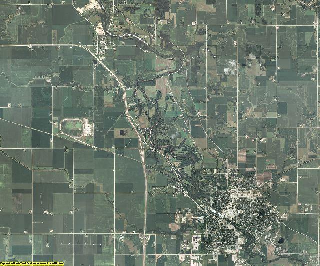 Floyd County, Iowa aerial photography