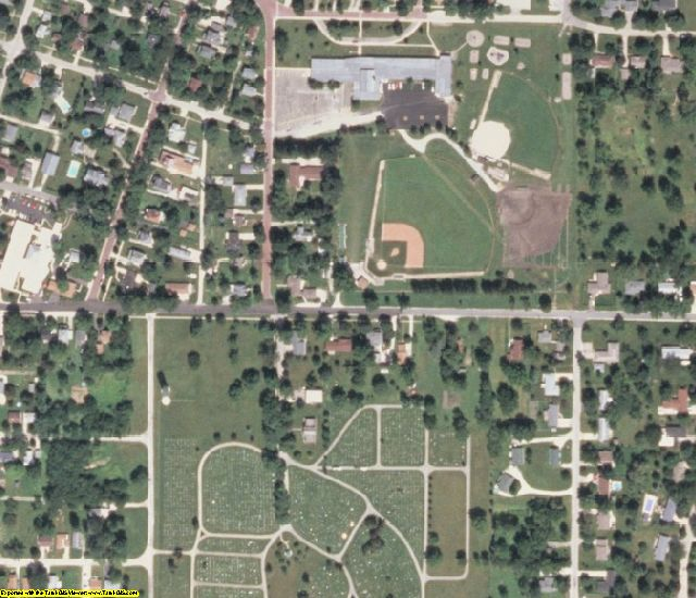 Ford County, IL aerial photography detail