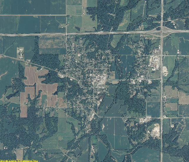Fountain County, Indiana aerial photography